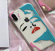 cheap -Case For Apple iPhone X iPhone 7 Plus Pattern Back Cover Sexy Lady Soft TPU for iPhone X iPhone 8 Plus iPhone 8 iPhone 7 Plus iPhone 7