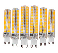cheap -YWXLIGHT® 6pcs 10W 900-1000 lm G9 LED Bi-pin Lights T 136 leds SMD 5730 Dimmable Decorative Warm White Cold White AC 110-130V AC 220-240V