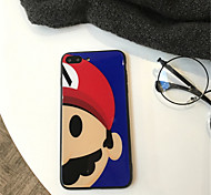cheap -Case For Apple iPhone X / iPhone 7 Plus Pattern Back Cover Cartoon Hard Tempered Glass for iPhone X / iPhone 8 Plus / iPhone 8