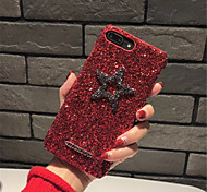 cheap -Case For Apple iPhone X iPhone 7 Plus Pattern Back Cover Glitter Shine Hard PC for iPhone X iPhone 8 Plus iPhone 8 iPhone 7 Plus iPhone 7