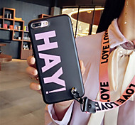 cheap -Case For Apple iPhone X iPhone 7 Plus Pattern Back Cover Word / Phrase Soft Silicone for iPhone X iPhone 8 Plus iPhone 8 iPhone 7 Plus