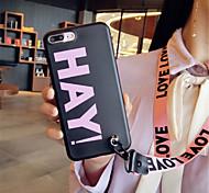 Недорогие -Кейс для Назначение Apple iPhone X iPhone 7 Plus С узором Кейс на заднюю панель Слова / выражения Мягкий Силикон для iPhone X iPhone 8
