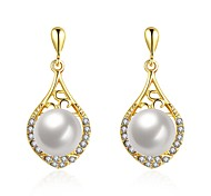 cheap -Women's Drop Earrings With Gift Box Imitation Pearl Fashion Lovely Alloy Drop Jewelry Gold Silver Wedding Daily Costume Jewelry