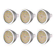 Недорогие -YWXLIGHT® 6шт 7W 600-700lm MR16 GU5.3 Точечное LED освещение 48 Светодиодные бусины SMD 2835 Тёплый белый Холодный белый Естественный