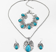 cheap -Women's Turquoise Jewelry Set - Resin Animal Fashion Include Black / Red / Blue For Party / Halloween / Earrings