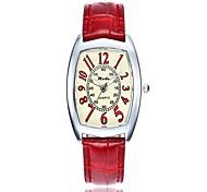 Недорогие -Жен. Кварцевый Нарядные часы Китайский Повседневные часы PU Группа На каждый день Мода Белый Синий Красный