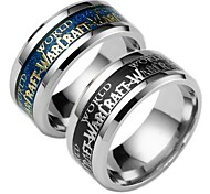 cheap -Men's Women's Band Ring Black Blue Stainless Geometric Fashion Daily Costume Jewelry