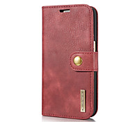 cheap -Case For Samsung Galaxy S7 Card Holder with Stand Flip Full Body Cases Solid Color Hard Genuine Leather for S7