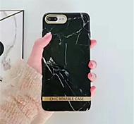 Недорогие -Кейс для Назначение Apple iPhone X iPhone 7 Plus С узором Кейс на заднюю панель Мрамор Мягкий ТПУ для iPhone X iPhone 8 Pluss iPhone 8