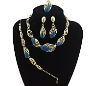 cheap -Women's Jewelry Set - Drop Vintage, Statement, Oversized Include Bangles / Chain Necklace / Statement Ring Brown / Blue / Pink For Party / Formal / Dangle Earrings / Earrings