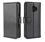 cheap -Case For Samsung Galaxy J5 (2017) J2 PRO 2018 Card Holder Wallet with Stand Flip Magnetic Full Body Cases Solid Color Hard Genuine Leather