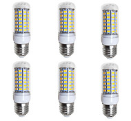 cheap -BRELONG® 6pcs 4W 400lm E26 / E27 LED Corn Lights 69 LED Beads SMD 5730 Warm White White 200-240V