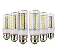 cheap -YWXLIGHT® 6pcs 7W 600-700 lm E14 E26/E27 LED Corn Lights 72 leds SMD 5730 Decorative Warm White Cold White AC 220-240V