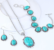 cheap -Women's Jewelry Set - Resin Vintage, European, Fashion Include Turquoise For Causal / Earrings
