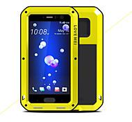 Недорогие -Кейс для Назначение HTC U11 Защита от удара Водонепроницаемый Чехол Сплошной цвет Твердый Металл для HTC U11