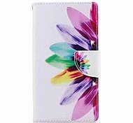 preiswerte -Hülle Für Sony Xperia L2 Xperia XA2 Ultra Kreditkartenfächer Geldbeutel mit Halterung Flipbare Hülle Muster Ganzkörper-Gehäuse Blume Hart