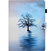 cheap -Case For Apple iPad 10.5 iPad Pro 9.7 Card Holder with Stand Flip Pattern Auto Sleep/Wake Up Full Body Cases Tree Hard PU Leather TPU for