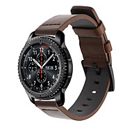 cheap -Watch Band for Gear S3 Frontier Gear S3 Classic Samsung Galaxy Huawei Classic Buckle Leather Wrist Strap