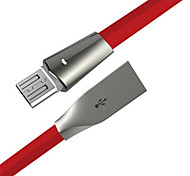 cheap -Micro USB USB Cable Adapter Quick Charge High Speed Flat Cable For Samsung Huawei LG Nokia Lenovo Xiaomi Motorola HTC Sony 180 cm Zinc