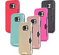 abordables -Funda Para Samsung Galaxy S7 edge S7 Soporte de Coche Antigolpes Funda Trasera Color sólido Dura ordenador personal para S7 edge S7
