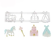 cheap -1pc Castle Carriage / Coach Birthday Ice Cream Cake For Cupcake For Cookie Plastic DIY Cookie Cutters Baking & Pastry Tools