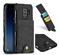 cheap -Case For Samsung Galaxy S9 S9 Plus Card Holder Shockproof Back Cover Solid Color Hard Textile for S9 Plus S9 S8 Plus S8