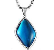 cheap -Men's Geometric Shape Casual Fashion Cool Pendant Necklace Synthetic Sapphire Steel Titanium Pendant Necklace Gift Valentine Costume