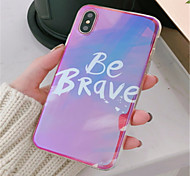 cheap -Case For Apple iPhone X / iPhone 7 Plus Pattern Back Cover Word / Phrase Soft TPU for iPhone X / iPhone 8 Plus / iPhone 8