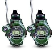 preiswerte -Walkie Talkie Outdoor Übungen Camping / Wandern / Erkundungen Multi-Funktion Armband Uhren Kompass Kunststoff Plastikschale 2 Stück