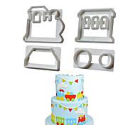 Недорогие -Шлейф Для приготовления пищи Посуда Пластик Творческая кухня Гаджет Высокое качество Инструмент выпечки