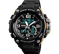 baratos -SKMEI Homens Relogio digital Relógio de Moda Relógio Esportivo Chinês Digital Calendário Cronógrafo Impermeável Noctilucente Cronômetro PU