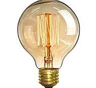cheap -1pc 40W E26/E27 G80 Warm White 2200-2700 K Retro Dimmable Decorative Incandescent Vintage Edison Light Bulb 220-240V