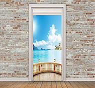 Недорогие -Натюрморт Море Наклейки Простые наклейки 3D наклейки Декоративные наклейки на стены Фото наклейки Напольные наклейки Дверные наклейки,