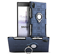 Недорогие -Кейс для Назначение Sony Xperia XA1 Ultra Защита от удара Кольца-держатели Поворот на 360° Кейс на заднюю панель Сплошной цвет Твердый ПК