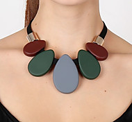 cheap -Women's Pendant Necklace - Drop Fashion, Statement, Colorful Dark Green Necklace For Party, Gift, Prom