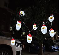 Недорогие -Гирлянды 10 светодиоды Белый Декоративная Аккумуляторы AA