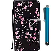 cheap -Case For Huawei P9 lite mini Huawei P smart Card Holder Wallet with Stand Flip Magnetic Full Body Cases Flower Hard PU Leather for P10