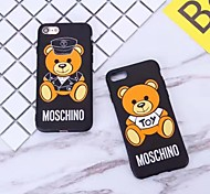 cheap -Case For Apple iPhone 6 Plus iPhone 7 Plus Pattern Back Cover Cartoon Hard Silicone for iPhone 8 Plus iPhone 8 iPhone 7 Plus iPhone 7