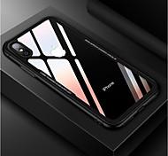 Недорогие -Кейс для Назначение Apple iPhone X Защита от удара Зеркальная поверхность Кейс на заднюю панель Однотонный Твердый Закаленное стекло для