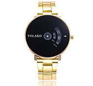 cheap -Men's Women's Quartz Fashion Watch Casual Watch Chinese Large Dial Stainless Steel Band Fashion Silver Gold