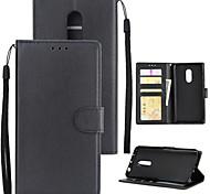 Недорогие -Кейс для Назначение Xiaomi Redmi 5 Plus Redmi 5A Бумажник для карт Кошелек Защита от удара Флип Чехол Однотонный Твердый Кожа PU для