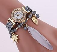 cheap -Women's Quartz Bracelet Watch Chinese Casual Watch PU Band Casual Fashion Black White Blue Red Grey