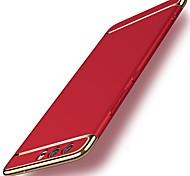 Недорогие -Кейс для Назначение Huawei P10 P10 Plus Защита от удара Покрытие Кейс на заднюю панель Однотонный Твердый ПК для P10 Plus P10 Lite P10