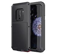 Недорогие -Кейс для Назначение SSamsung Galaxy S9 Защита от влаги Защита от удара Чехол броня Твердый Металл для S9