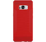 abordables -Funda Para Samsung Galaxy S8 Plus S8 Congelada Armadura Funda Trasera Un Color Armadura Dura Fibra de carbon para S8 S7 edge S7