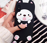 cheap -Case For Apple iPhone X iPhone 7 Plus Pattern Back Cover 3D Cartoon Soft Silicone for iPhone X iPhone 8 Plus iPhone 8 iPhone 7 Plus
