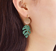 Недорогие -Серьги-слезки - В форме листа Мода Зеленый Назначение Повседневные / Свидание