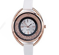 cheap -Women's Quartz Fashion Watch Chinese Large Dial Casual Watch PU Band Elegant Fashion Black White Red Brown Fuchsia