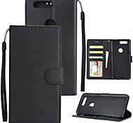 cheap -Case For OnePlus OnePlus 5T 5 Card Holder Wallet Shockproof Flip Full Body Cases Solid Colored Hard PU Leather for One Plus 5 OnePlus 5T