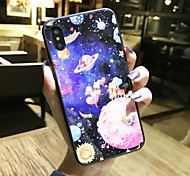 cheap -Case For Apple iPhone X iPhone 8 Shockproof Pattern Back Cover Scenery Cartoon Hard Tempered Glass for iPhone X iPhone 8 Plus iPhone 8